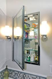 Mirror Bathroom Cabinet With Lights Bathrooms Cabinets Recessed Mirrored Bathroom Cabinets Plus