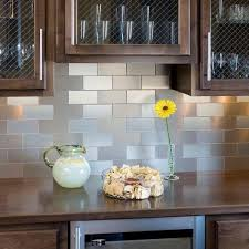 self stick kitchen backsplash tiles contemporary kitchen stainless steel self adhesive backsplash