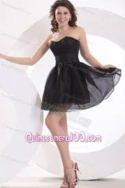 quince dama dresses a line strapless black organza knee length dama dress for