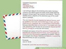 Dispute Letter For Experian 4 ways to dispute your experian credit report wikihow