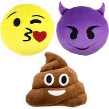emoji 3 piece pillow set and squatty potty walmart com