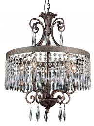 Crystal And Bronze Chandelier Antique Bronze Chandelier U003e 434 56 Crystal Drum Shade Five Lights