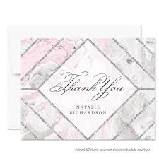 personalized thank you cards personalized thank you cards silver gold black the spotted olive