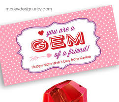 personalized ring pops gem of a friend valentines treat bag topper printable