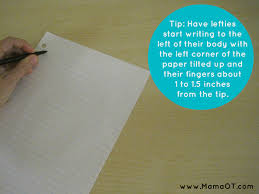 scented writing paper tips for teaching left handed children to write an occupational therapist s tip for teaching left handed kids to write