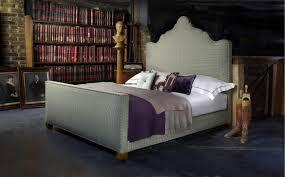 long white mattress headboard laminate wood floor interior design