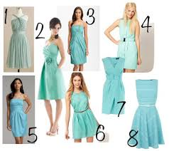 aquamarine bridesmaid dresses which is closest to your ideal blue green i think all of them are