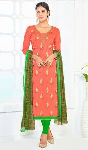 excellent peach color dress nice design for you 6098