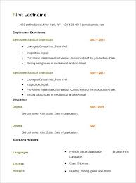 Resume Template Basic by Format Basic Resume Outline Template Jennywashere