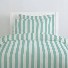 Mint Green Duvet Set Mint Stripe Duvet Cover Carousel Designs