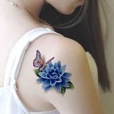 aliexpress com buy 1pcs rose flower waterproof temporary tattoos