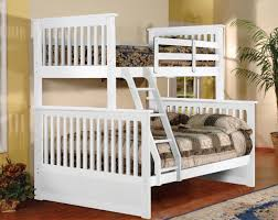 Full Sized Bunk Bed by White Twin Size Over Full Bunk Bed With Ladder And Side Rail