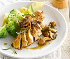 recette cuisine vapeur plat suprême de poulet aux chignons brocoli et pommes de