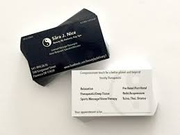 Sports Massage Business Cards Sara Nice Business Cards Westcoast Media Group
