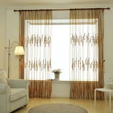 Lavender Window Curtains 2 5x1m Embroidery Style Window Curtain Lavender Flower Voile