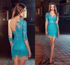 short cocktail party dresses with half sleeve for women ladys