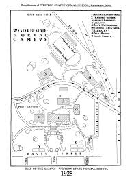 Michigan State Campus Map by Campus Map 1925 Maps Western State Normal Western