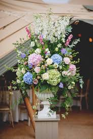 country style wedding flowers with a twist