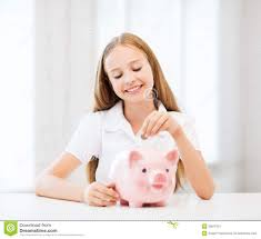 his and piggy bank child with piggy bank royalty free stock images image 33876819