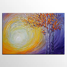 abstract landscape painting tree painting oil painting abstract