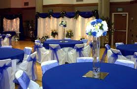 royal blue church wedding decorations party themes inspiration