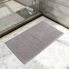 Cut To Fit Bathroom Rugs Amazon Com Vdomus Non Slip Microfiber Shag Bathroom Mat 20 X 32