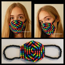 Kandi Mask Rainbow And Black Swirl Kandi Mask By Vickyskandishoppe On Deviantart