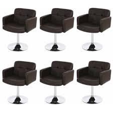 chaises s jour lot de 6 chaises salle à manger tournant orland achat vente