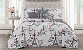 Comforter Bed In A Bag Sets 75 Off On Paris Themed Bedding Sets Groupon Goods