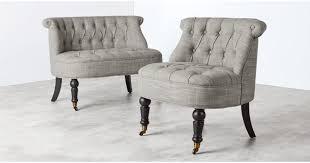 Love Chairs Bouji Love Seat Linen Mix Grey Made Com