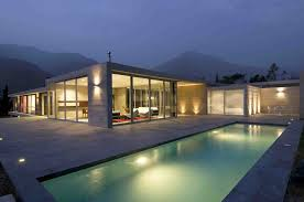 architectural home designs apartment modern garden pool exterior