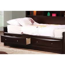 espresso twin or full daybed with storage u2014 liberty interior