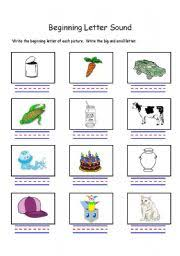 english worksheets beginning letter sound letters c and j