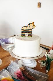 wedding cake pinata funfetti pony piñata cake molly yeh