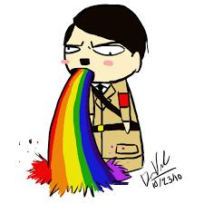 Throwing Up Rainbows Meme - whitegenocide is utter bullshit the athefist