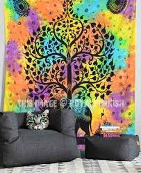 hippie elephant tree tapestry wall hanging tie dye sheet bedding