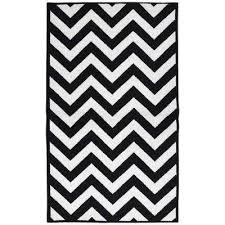 White And Black Area Rug Chevron Black Area Rugs Rugs The Home Depot