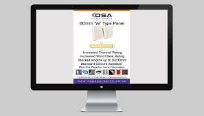 Overhead Door Panels by 80mm Sectional Overhead Door Panel News Osa Door Parts Limited
