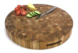 circular solid teak end grain butchers block chopping board category teak chopping boards