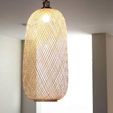 Bamboo Sconce Lumina Bamboo Handwoven Pendant Lamps Sphere U0026 Oblong U2013 Modish Store
