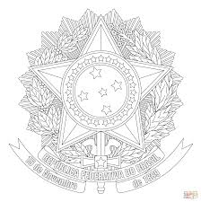 Blank Map Of Brazil by Coat Of Arms Of Brazil Coloring Page Free Printable Coloring Pages