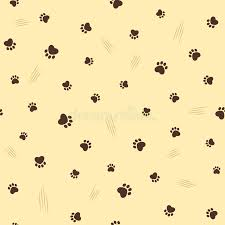 theme line yellow claw cat theme seamless background stock vector illustration of fabric