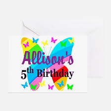 5th birthday 5th birthday greeting cards cafepress
