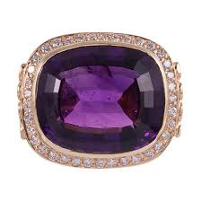 amethyst engagement ring custom by rings