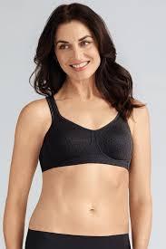mona non wired soft bra black pocketed mastectomy bra amoena uk