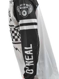 motocross jerseys and pants oneal black white 2018 ultra lite le 70 mx jersey oneal