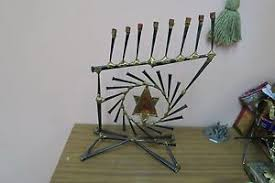 gary rosenthal menorah gary rosenthal judaica brutalist menorah candle holder 11 wide 17