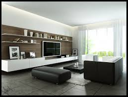 Modern Monochromatic Living Room With Wooden Wall Panel For Flat - Contemporary living rooms designs