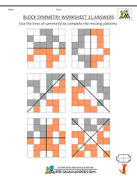 symmetry worksheet