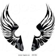 royalty free black wings logo by vector tradition sm 4180